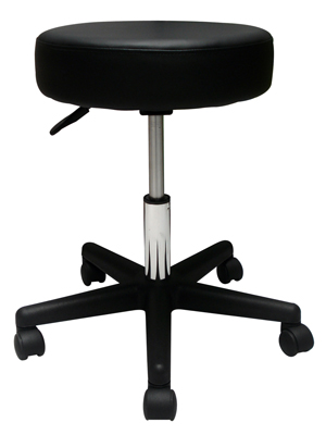 Rolling Stool w/ Removable Back Support (optional)