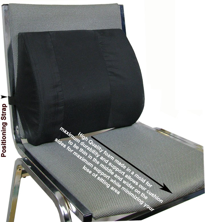 Seat Back Cushion W/ Elastic Strap