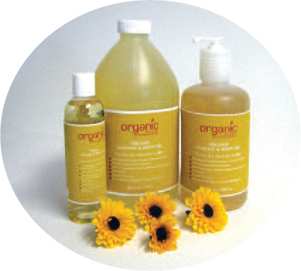Organic Massage Oil - 1/2 Gallon