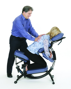 Pisces Productions Dolphin II Portable Massage Chair Angle 1