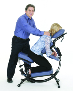 Pisces Productions Dolphin II Portable Massage Chair Angle 2