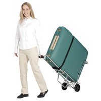 Table Porter Massage Table Rolling Cart w/Telescoping Handle